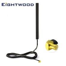 Eightwood dab carro antena dab + montagem de vidro dab antena do carro rádio digital ativo antena mcx plugue macho rf conector para CDAB7 AUTO