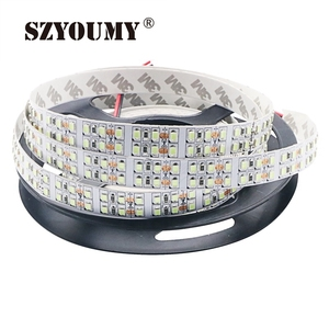 SZYOUMY Double Row Led Strip SMD 2835 240 Leds/ M Non-waterproof Indoor Flexible Led Strips 5M 1200 Leds Ice Blue Color