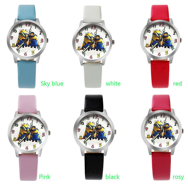 Colorful Despicable Me Minions Wristwatch for Children