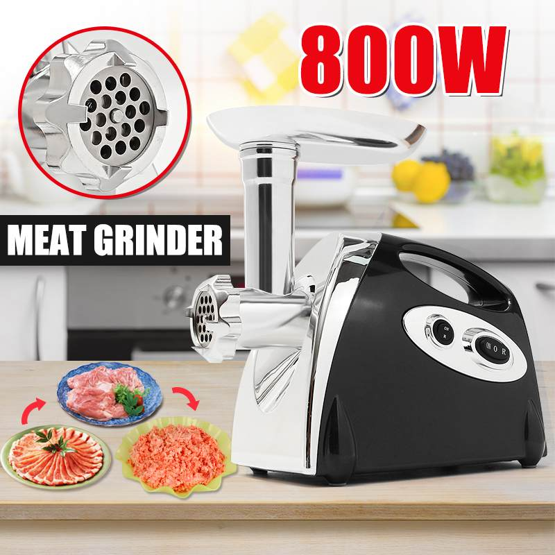 800W Multifunction Electric Meat Grinder Sausage Stuffer Mincer 110-220V With 3 Cutting Plates Adaptors EU/US Plug Kitchen Tool800W Multifunction Electric Meat Grinder Sausage Stuffer Mincer 110-220V With 3 Cutting Plates Adaptors EU/US Plug Kitchen Tool
