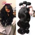 Princesa 8A Malaio Onda Do Corpo Do Cabelo Virgem 3 Pacotes de 100% Cabelo Humano Tecer Feixes de cabelo Malaio Não Processado Virgem Onda Do Corpo Do Cabelo