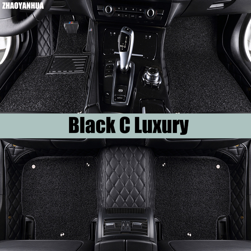 ZHAOYANHUA Car floor mats for Nissan Tida Versa Sunny 5D all weather heavy duty car-styling carpet rugs floor liners(2004-)