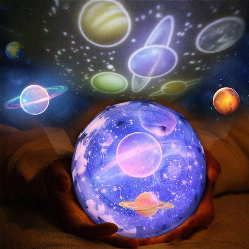 AGM Starry Sky LED Baby Night Flashing Light Planet Magic ...