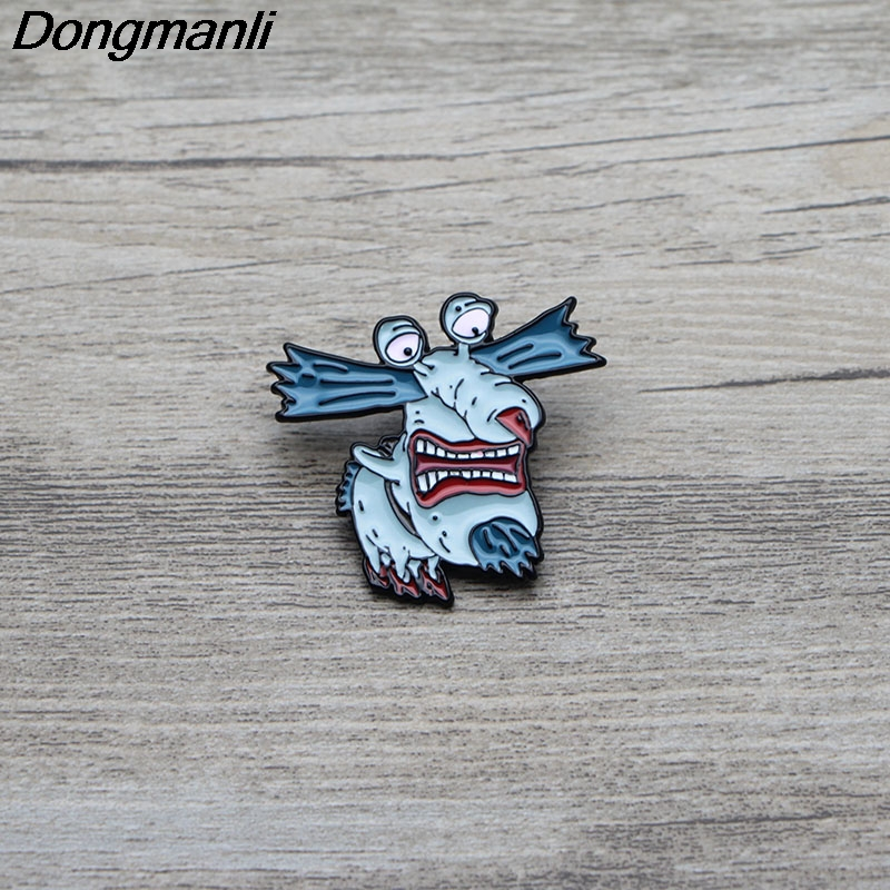 L2991 The Aaahh Real Monsters Enamel Pin Brooches Cartoon Creative Metal Brooch Pins Denim Hat Badge Collar Jewelry