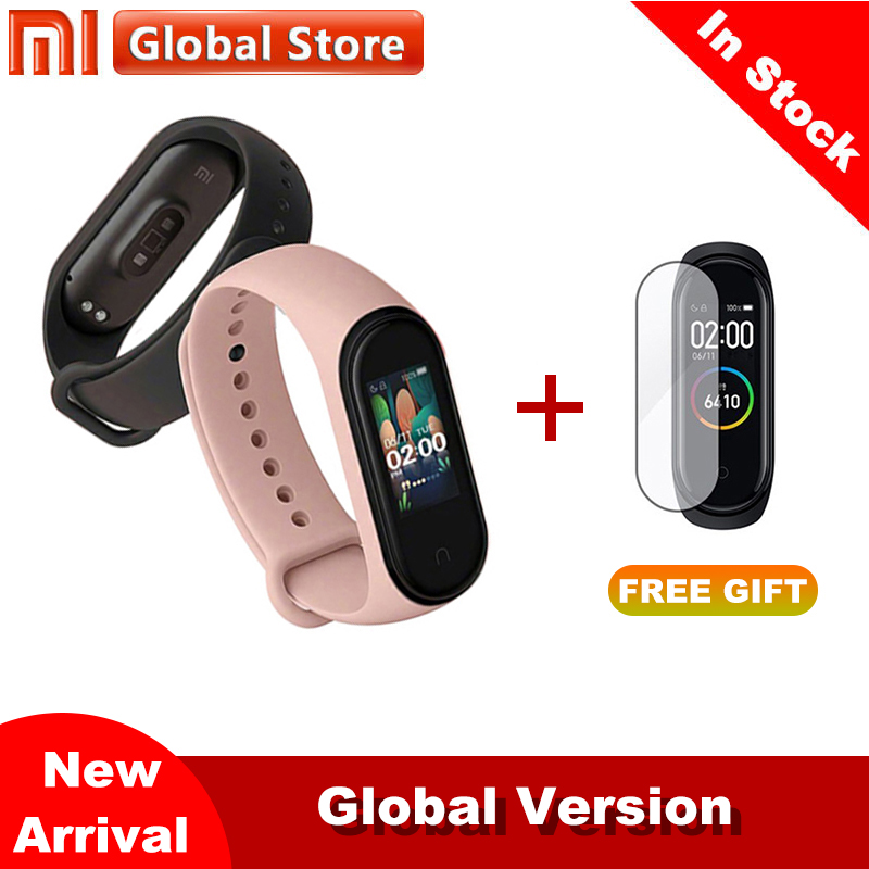 In Stock 2019 New Xiaomi Mi Band 4 Smart Color Screen Bracelet Heart Rate Fitness 135mAh