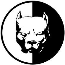 12*12CM PITBULL SUPER HERO DOG Fun Dog Personalized Car Stickers Decals Black Silver CT-520