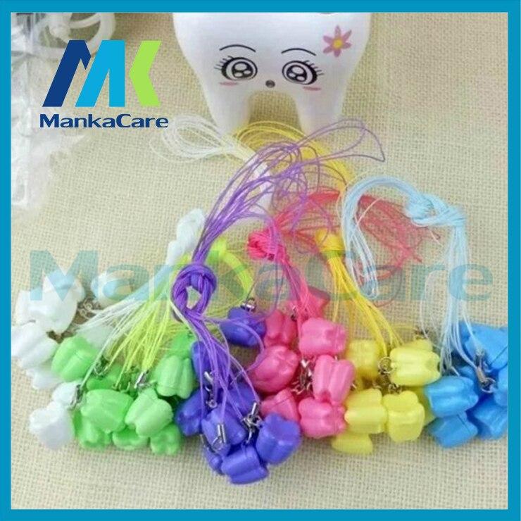 100 Pcs / Set Plastic Dental Milk Teeth Box Baby Tooth Deciduous Teeth Holder Multi Color Milk Tooth Box Milk Teeth Case Pendant