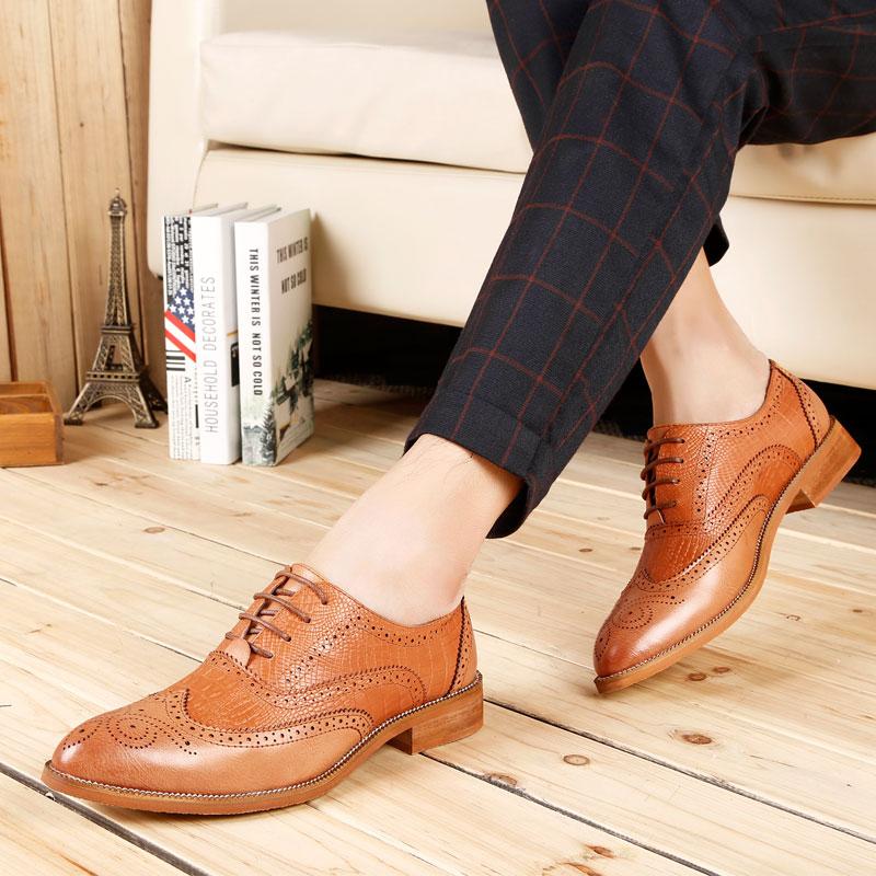 ... Men Flats Shoes Slip-on. Add Cart.  26.9. PUAMSS 2018 Handmade British  Style Brogue Paty 64f05965d3d5