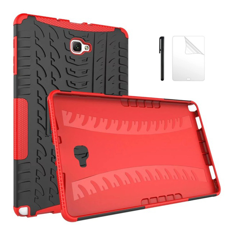 Armor Rugged Silicon Protection Case For Samsung Galaxy Tab A A6 10.1 SM-P585 P580 With S-Pen Shockproof Hard Back Cover+PenFilm