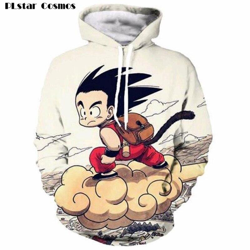 PLstar Cosmos Anime Dragon Ball Z Sweatshirts Cute Kids 3D Print Goku Hoodies Pullovers Men/Women Outerwear Hip Hop Hoodie 5XL