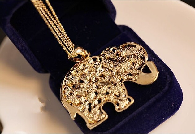 Crystal Colorful Elephant Necklace