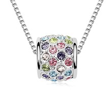 Cheap Sale Austrian Crystal Luck Roll Pendant Made With Genuine Swarovski Elements Necklace Brand Fashion Women Jewelry NXL0123