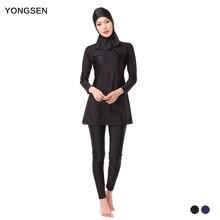 YONGSEN Muslim Swimming Women Modest Coverage Hijab Plus Size Muslim Swimwear Bathing Suit Beach Swimsuit for Arabian Burkinis