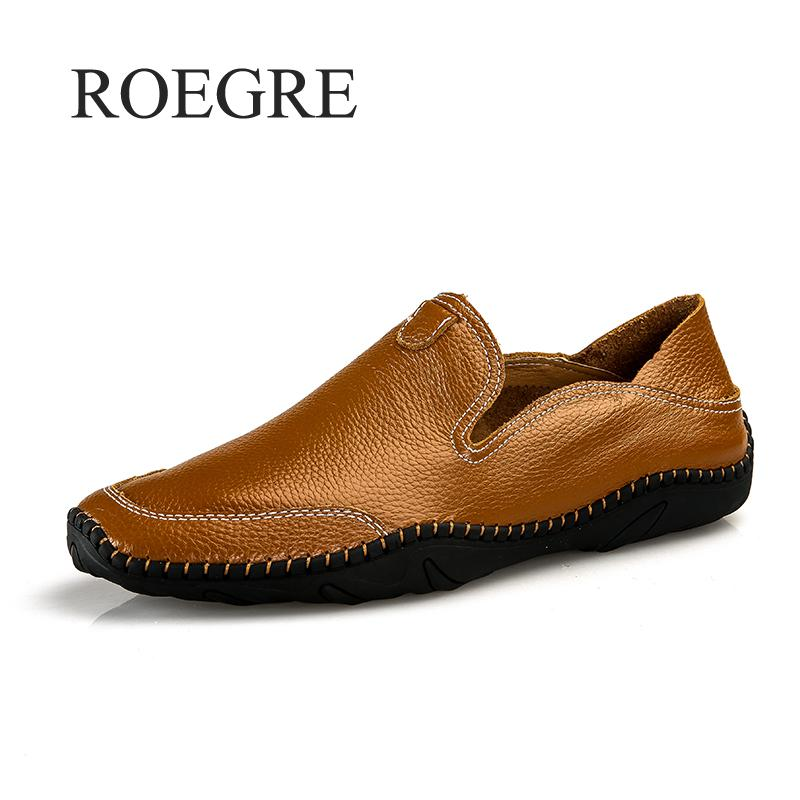 2019 New Men Shoes Genuine Leather Comfortable Men Casual Shoes Footwear Chaussures Flats Men Slip On Lazy Shoes Zapatos Hombre