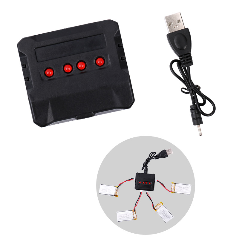 USB Charger 4 in 1 USB Charge Cable 3.7V for 4 Drone Batteries