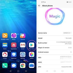 Image 3 - Orijinal onur 20 Smartphone 6.26 inç 8GB 256GB Kirin 980 Octa çekirdek Android 9.0 süper şarj 3750mAh yüz unlock NFC
