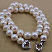 Горячая редкая белая 12-13 мм жемчужное ожерелье с южным морем 925 серебряная застежка ювелирные изделия