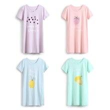 Купить с кэшбэком Girl Sleepwear Cartoon Fruit Children Clothing Girls Baby Pajamas Cotton Princess Nightgown Kids Home Clothing