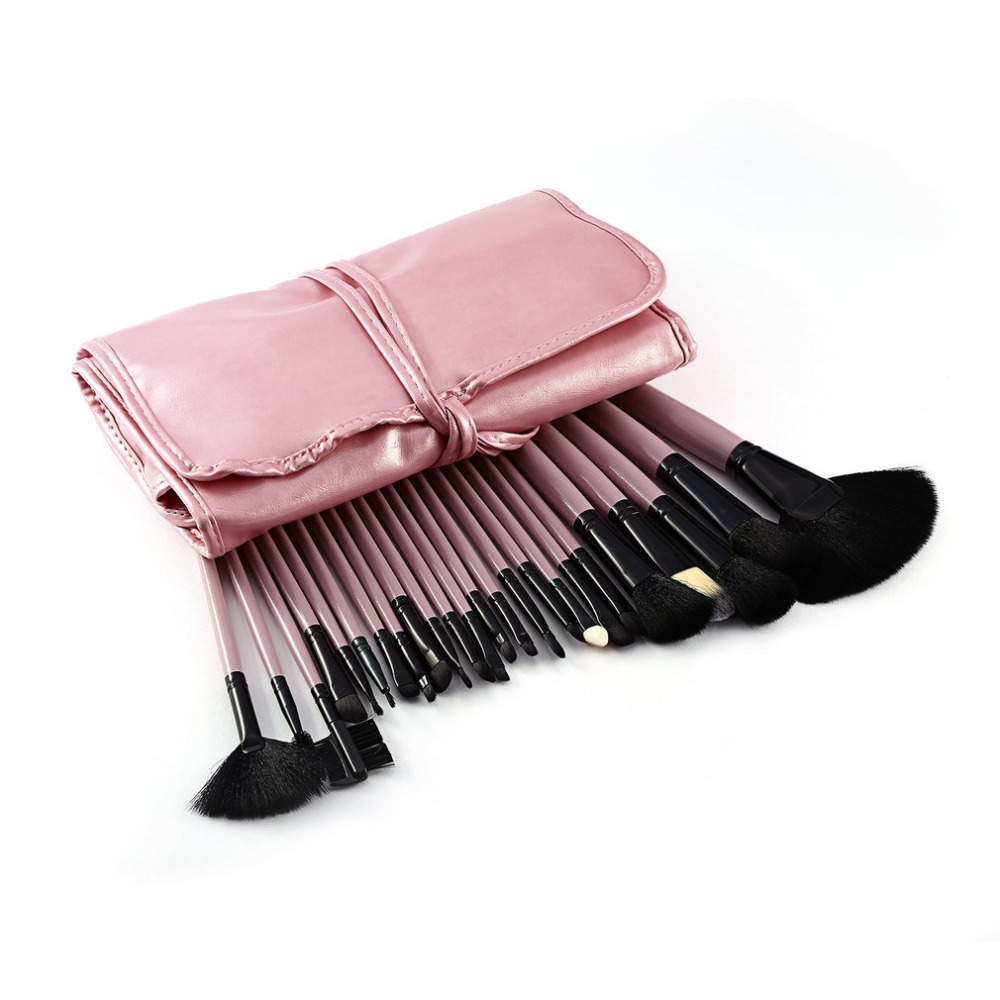 24pcs Professional Makeup Brushes Set Foundation Powder Brush Kit Eyeshadow Cosmetic Make Up Tools Soft Hair With Bag 2 colors 2017 cosmetic pink makeup brush professional makeup kit brush set foundation brush power puff sponge makeup brushes set tool