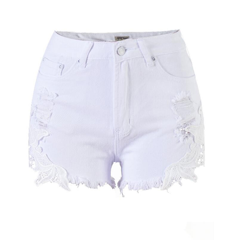 Online Get Cheap Denim Shorts Women White -Aliexpress.com ...