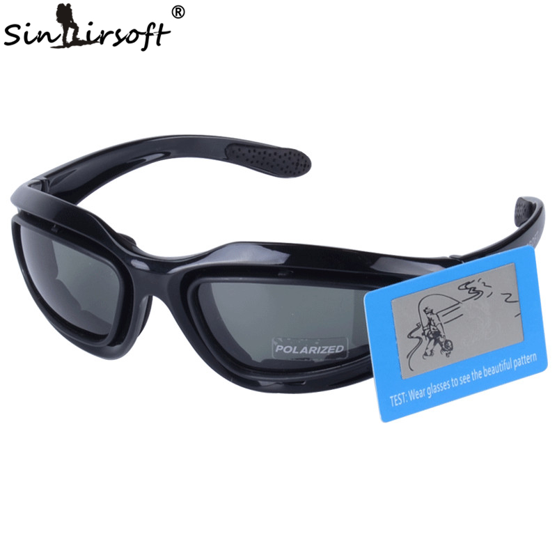 SINAIRSOFT C5 Polarized Goggles 4 Lens Outdoor UV400 Protection Hunting Military Hiking Eyewear Airsoft War Game Glasses