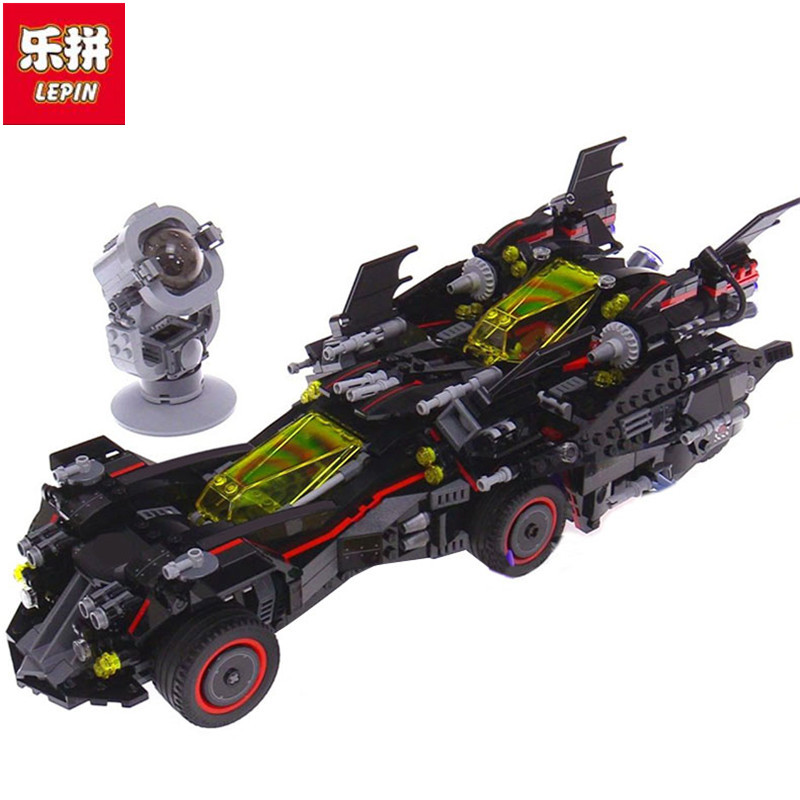 Lepin 07077 1496Pcs Genuine Batman Movie Series The Ultimate Batmobile Set Educational Building Blocks Bricks Toys Model 1496pcs genuine batman movie series the ultimate batmobile set educational building blocks bricks toys compatible lepins model