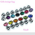 Anal Sex Toys Small Size Metal Mini Anal Toys Butt Plug Size 75*28 mm,  Stainless Steel with Crystal Jewelry