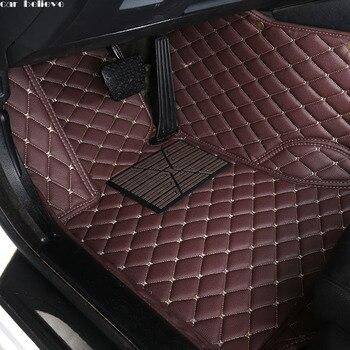 車信じ auto 車のフロアマットのためのフォルクスワーゲン vw パサート b5 トゥーラン 2005 ポロセダンゴルフ 6 シャラン防水カーアクセサリー