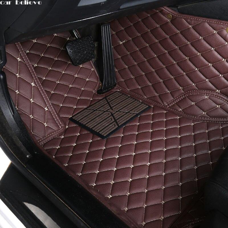 Car Believe Auto car floor Foot mat For VOLKSWAGEN vw passat b5 touran 2005 polo sedan golf 6 sharan waterproof car accessories
