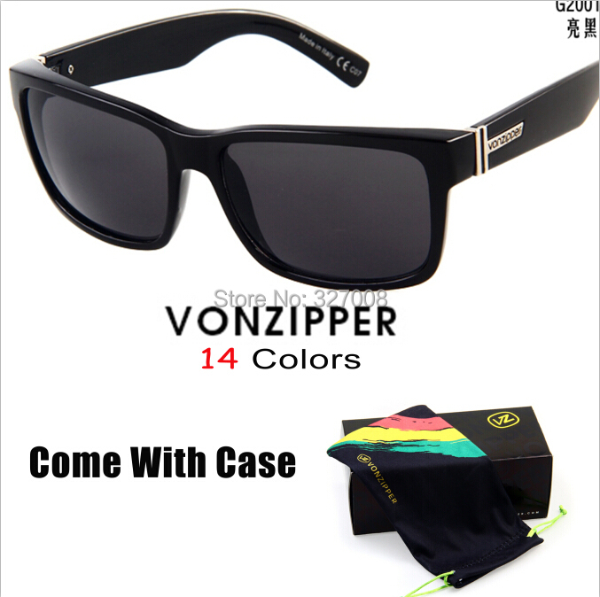 Von Zipper Sunglasses 2014 Fashion Sporting Brand Vonzipper Glasses Men Bycicle Goggles Lenses Ciclismo Gafas With Box
