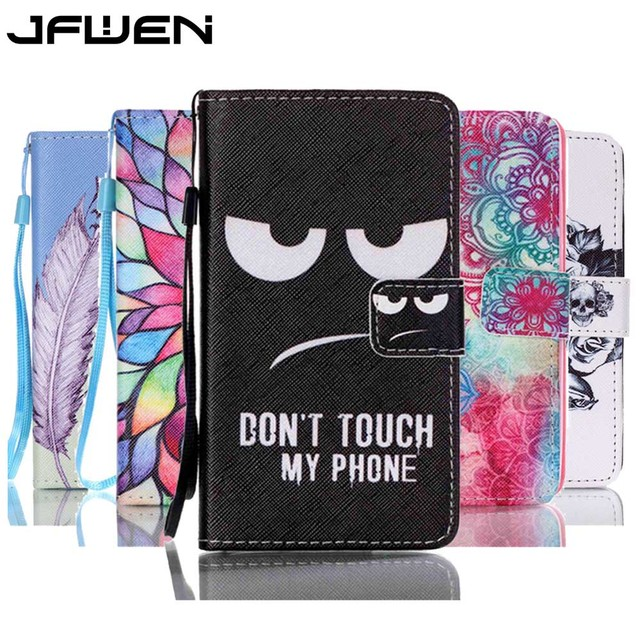 For Lenovo A319 Case Book Style Colorful Cartoon Flip Wallet Painted Case For lenovo A319 Leather Phone Case Cover With Lanyard