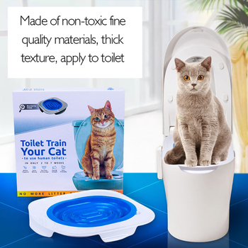 Toilet Training Seat Litter Tray Professional Pet Cat Litter Cleaning Tool Trays Litter Lavatory Box Cats Training Supplies