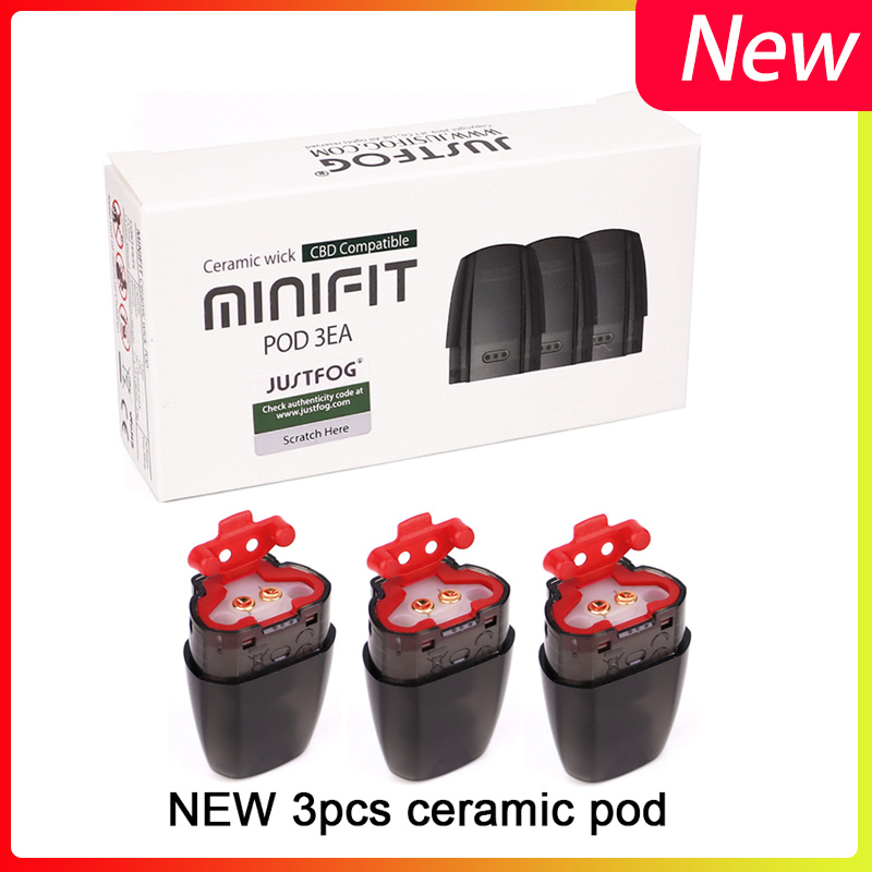 3pcs/pack Newest JUSTFOG Minifit Ceramic Pod 1.5ml Pod Cartridge Fit JUSTFOG Minifit Kit Vape Electronic Cigarette Accessories