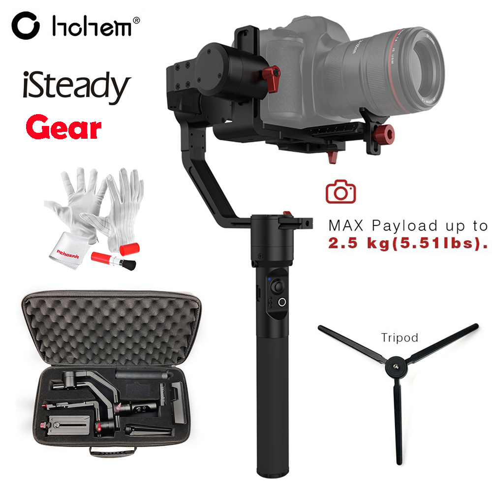US $399 0 |Hohem iSteady Gear 3 Axis Handheld Gimbal Stabilizer Payload  2 5KG for DSLR Mirroless Camera for Sony A7 PK Zhiyun Crane V2 Plus-in