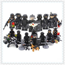 8Pcs/Set WW2 Police SWAT Weapon Gun Army Soldier Model Building Block Toys SY 607 Figure Gift For Children Compatible Legoe(China)