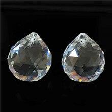 Envío Gratis + 102 unids/lote de buena calidad brillante 30mm transparnet Bola de araña de cristal/Bola de iluminación de cristal