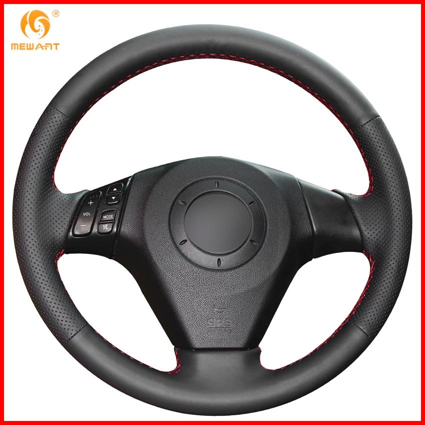 For 2004-2009 Mazda 3 / 2006-2010 Mazda 5 / 2003-2008 Mazda 6 / Mazda MPV Black Artificial Leather Steering Wheel Covers Parts