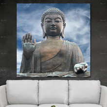 Frameless Printing Portrait Canvas Wall Art Poster Home Decor Picture Print Buddha painting Artwork for Living room
