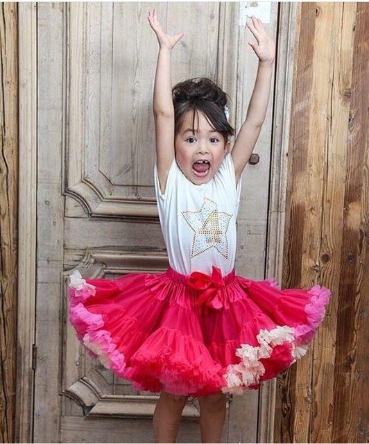 1-6 anos de Menina saia Tutu vestido de Baile Sólida Na Altura Do Joelho-Comprimento Da saia para o Natal saia Tutu desgaste do bebê princesa Arco saia de Malha