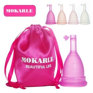 Reusable menstrual cup women period cups