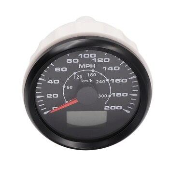 85 ミリメートル正確な走行距離とスピードメーターにボートレーシング車のスピードメーターオートバイスピードメーターセンサー 12/ 24 ボルト