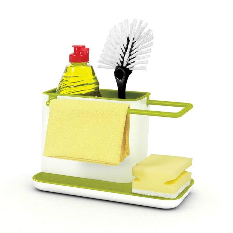 Kitchen Sink Organizer Draining Rack Sponge Holder Dishwasher Sink Organiser Utensils Towel Rack
