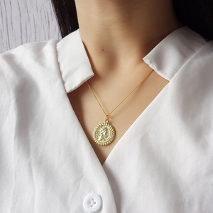 Image 3 - Silvology 925 Sterling Silver Round Figure Pendant Necklace Gold Vintage wild Coin Elegant Necklace For Women Fine Jewelry Gift