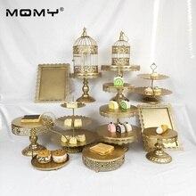 Wedding Cupcake Metal Crystal Fancy 13 Pcs Set Birdcage Cake Stand