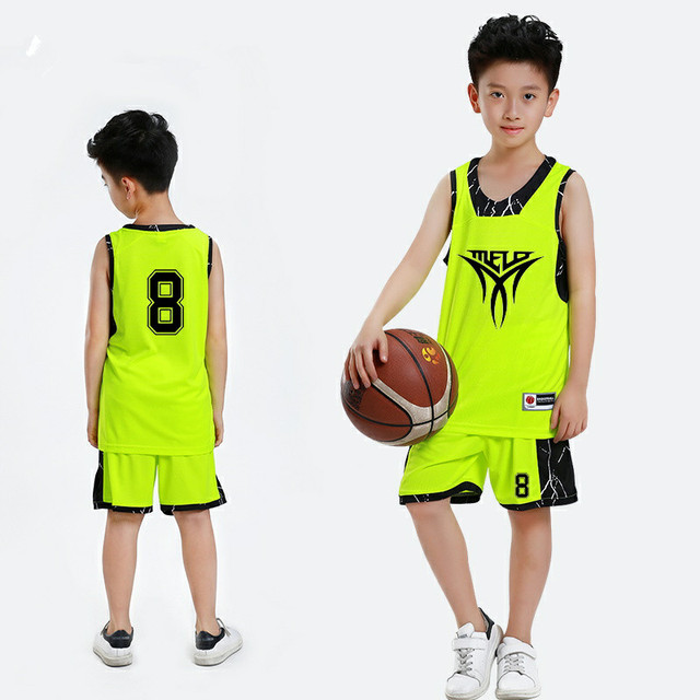 5682281198a80 Nouveau Enfants de Basket-Ball Jersey Ensembles Uniformes Garçons Sport kit  vêtements Youth basketball maillots