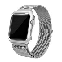 MAIBU Milanese Loop Strap Stainless Steel Band For Apple Watch Band 42 Mm 38 Wristband Link
