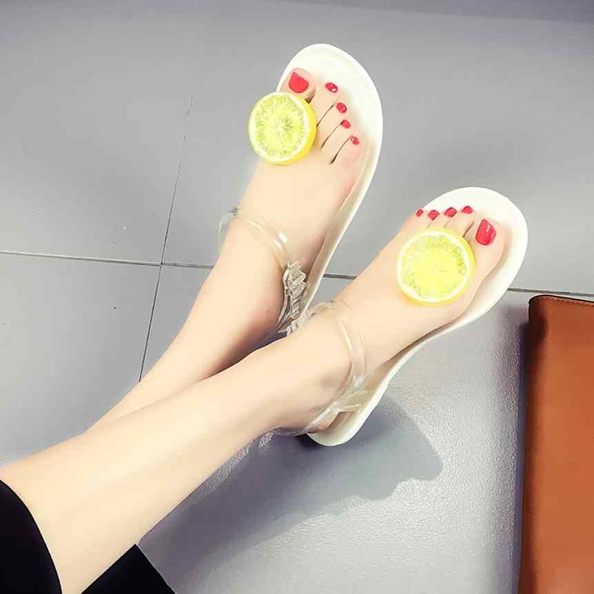SAGACE Shoes Sandals summer Women lemon Fruit Flip flops Sandals Girls  Plate Flip Flop Beach Casual 7eb5ef5829be