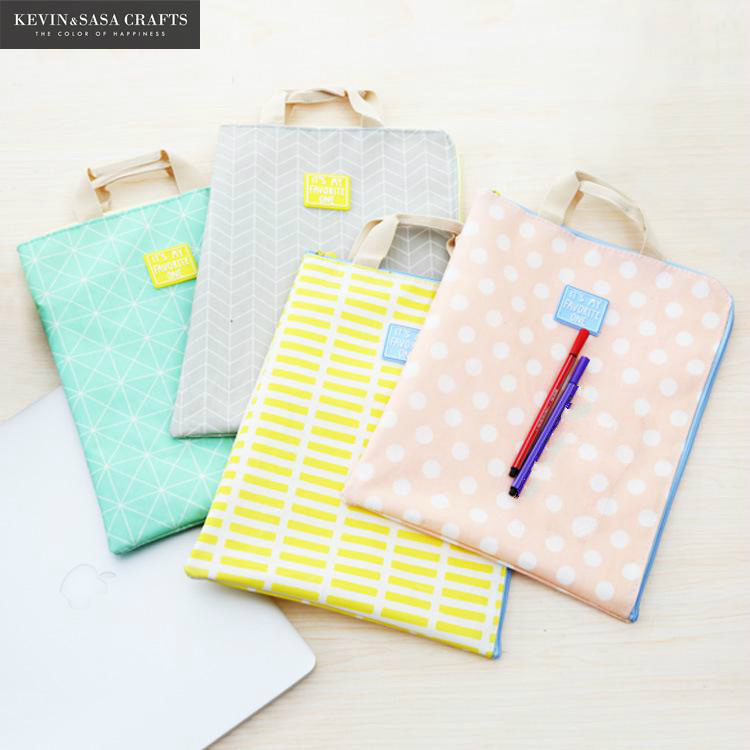 4Colors Big A4 File Folder Bag Office Supplies Organizer Bag Document Organizer School Stationery Students Tools A4 Paper