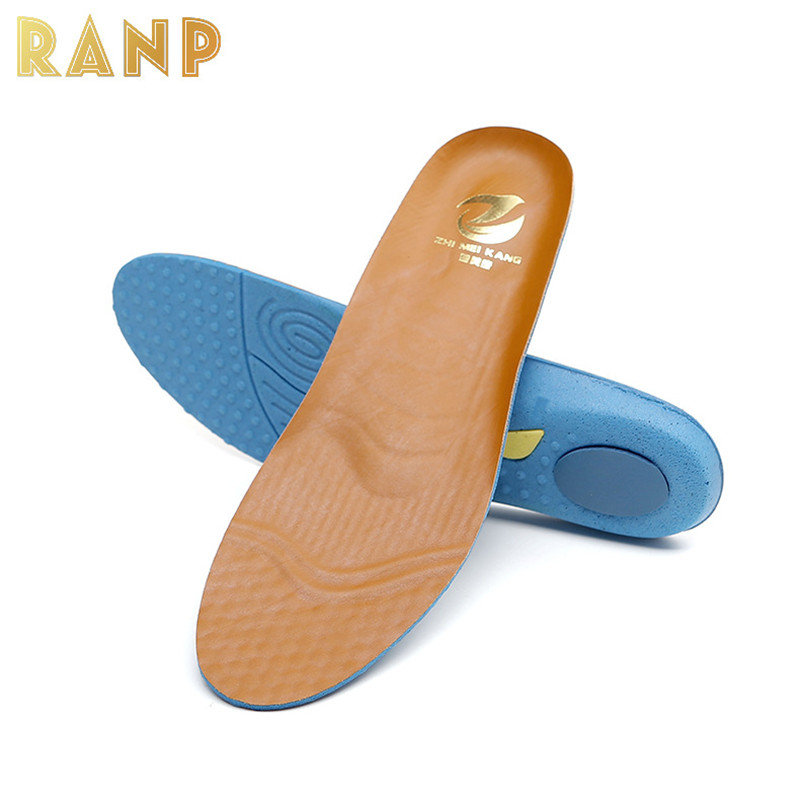 High Quility Leather Sport Insole Flat Foot Orthotic Arch Support Air Cushion Shoe Pad Orthopedic Silicone Shock Absorption Sole 2016 1 pair large size orthotic arch support massaging silicone anti slip gel soft sport shoe insole pad for man women