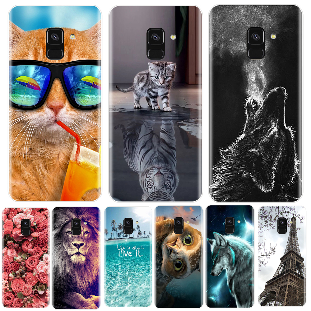 <font><b>Phone</b></font> <font><b>Case</b></font> For <font><b>Samsung</b></font> <font><b>Galaxy</b></font> A6 A8 Plus 2018 Soft Silicone TPU Cute Cat Painted Back Cover For <font><b>Samsung</b></font> <font><b>A3</b></font> A5 A7 2016 <font><b>2017</b></font> <font><b>Case</b></font> image